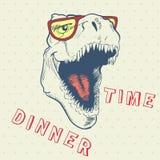 Dinner time of cool dinosaur Stock Photos