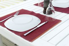 Dinner time. Restaurant Table red royalty free stock images