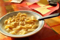 Dinner time. Lunch pasta italy italianfood bowl Stock Photography