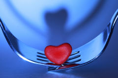 Dinner for two. Romantic symbol of two people dining Royalty Free Stock Image
