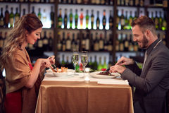 Dinner for two stock image