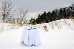 Dinner for two at the dunes Royalty Free Stock Photos