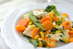 Dinner - vegetables with chicken Royalty Free Stock Images
