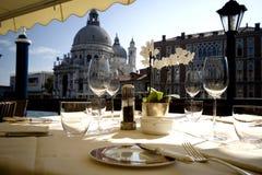 Dinner in Venice Stock Photo