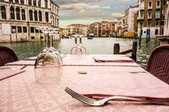 Dinner in Venice Stock Photos