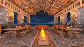 Dinner venue Royalty Free Stock Photography
