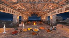 Dinner venue Stock Image