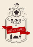 Dinner Vintage Calligraphic Royalty Free Stock Images