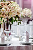 Dinner wedding table setting Royalty Free Stock Photos