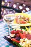 Dinner and Wine Stock Image