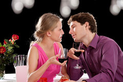 Dinner wine and love Royalty Free Stock Photo