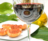 Dinner and wine setting Stock Image