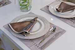 dinnerware Royaltyfria Bilder