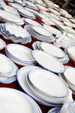 Dinnerware displaying Royalty Free Stock Images
