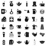 Dinnerware icons set, simple style Royalty Free Stock Photography