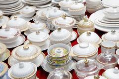 Dinnerware market Royalty Free Stock Images