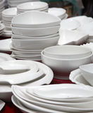 Dinnerware market stall Stock Photo