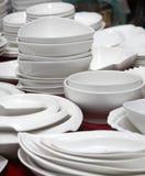dinnerware market stall Stock Photo