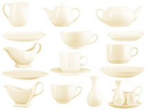 Dinnerware set Stock Photography