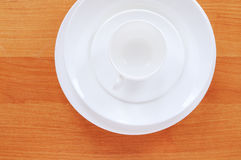 Dinnerware on table Royalty Free Stock Photography