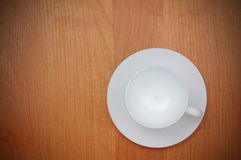 Dinnerware on table Royalty Free Stock Image