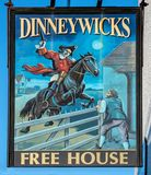 The Dinneywicks public house sign, Kingswood stock photos
