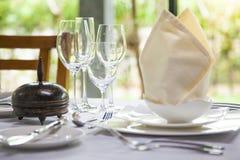 Dinning桌装饰 免版税图库摄影