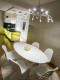 dinning的厨房空间 免版税库存照片