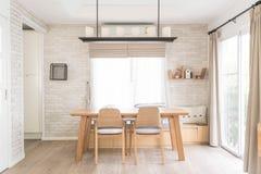 dinning επιτραπέζια εσωτερική διακόσμηση Στοκ Φωτογραφίες