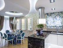 dinning комната кухни Стоковые Фотографии RF