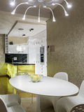 dinning комната кухни Стоковые Изображения
