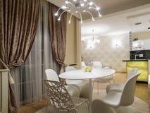 dinning комната кухни Стоковые Изображения RF
