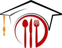 Dinning ajustou-se com tampão da graduação ilustração stock