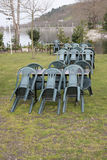Dinning area in a park Royalty Free Stock Images
