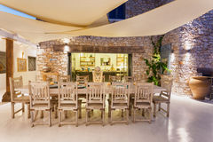 Dinning area in a resort Royalty Free Stock Photos