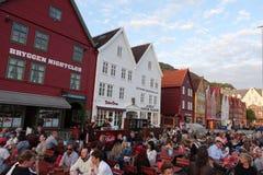 Dinning в Bryggen Стоковое Изображение RF