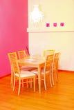Dinning cor-de-rosa foto de stock