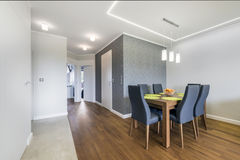 Dinning corner in luxury apartment Royalty Free Stock Photography