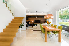 Dinning e sala de visitas Imagem de Stock