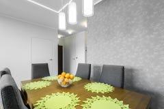 Dinning-Ecke in der Luxuswohnung Lizenzfreies Stockfoto