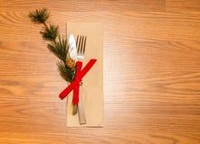 Dinning för infall för julmatställe kunglig Arkivfoto