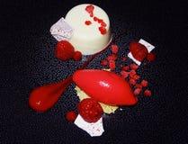 Dinning fin en Angleterre Dessert Image stock