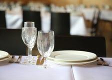 Dinning-Gedeckart lizenzfreie stockfotografie