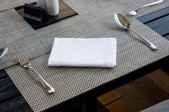 Dinning a installé dans le restaurant photos libres de droits