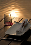 Dinning by The Lake Stock Photo