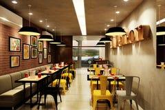 Dinning-Raum 3D Lizenzfreies Stockbild