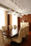 Dinning room. Elegant dinning room  with beige chairs Stock Image