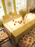 Dinning room. With apples on the table Royalty Free Stock Image