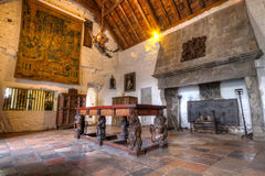 Dinning room of 15th century Bunratty castle Royalty Free Stock Photo