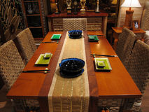 Dinning room and furnitures Stock Image